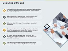 Beginning Of The End Agenda Collateral Powerpoint Presentation Example