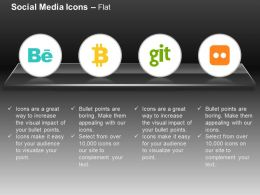 Behance Flickr Git Ppt Icons Graphics