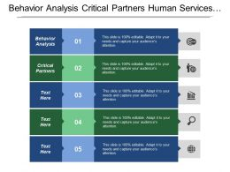 Behavior Analysis Critical Partners Human Services Government Resources
