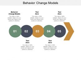 Behavior Change Models Ppt Powerpoint Presentation Gallery Slide Portrait Cpb