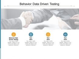 Behavior Data Driven Testing Ppt Powerpoint Presentation Portfolio Cpb