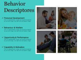 Behavior Descriptores Powerpoint Slides