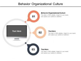 Behavior Organizational Culture Ppt Powerpoint Presentation File Format Ideas Cpb