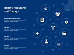 Behavior Research And Therapy Ppt Powerpoint Presentation Infographic Template Ideas