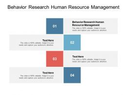 Behavior Research Human Resource Management Ppt Powerpoint Presentation Aids Cpb