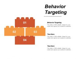 Behavior Targeting Ppt Powerpoint Presentation Icon Graphics Cpb