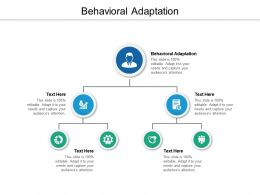 Behavioral Adaptation Ppt Powerpoint Presentation Portfolio Example Introduction Cpb