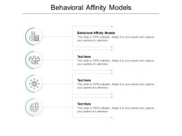 Behavioral Affinity Models Ppt Powerpoint Presentation Professional Diagrams Cpb