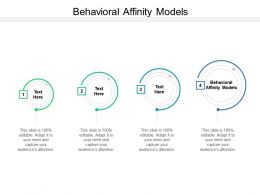 Behavioral Affinity Models Ppt Powerpoint Presentation Styles Structure Cpb