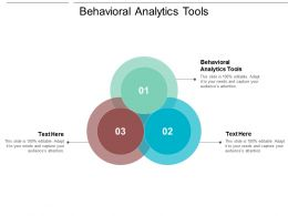 Behavioral Analytics Tools Ppt Powerpoint Presentation Ideas Template Cpb