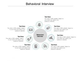 Behavioral Interview Ppt Powerpoint Presentation Outline Examples Cpb