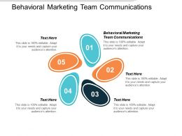 Behavioral Marketing Team Communications Ppt Powerpoint Presentation Infographic Template Vector Cpb