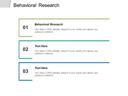 Behavioral Research Ppt Powerpoint Presentation Pictures Clipart Images Cpb