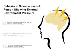 Behavioral Science Icon Of Person Showing External Environment Pressure