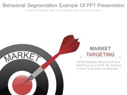 Behavioral Segmentation Example Of Ppt Presentation
