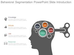 Behavioral Segmentation Powerpoint Slide Introduction