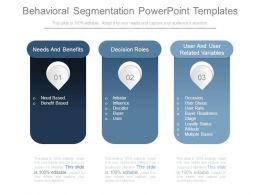 Behavioral Segmentation Powerpoint Templates