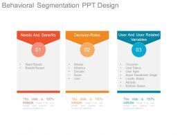 Behavioral Segmentation Ppt Design
