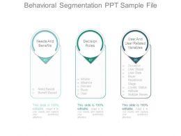 Behavioral Segmentation Ppt Sample File