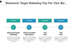 Behavioral Target Marketing Pay Per Click Bid Optimization Cpb