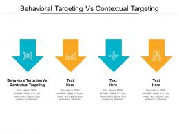 Behavioral Targeting Vs Contextual Targeting Ppt Powerpoint Presentation Icon Themes Cpb