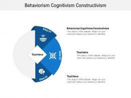 Behaviorism Cognitivism Constructivism Ppt Powerpoint Presentation Inspiration Infographic Template Cpb