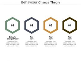 Behaviour Change Theory Ppt Powerpoint Presentation Diagram Templates Cpb