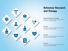 Behaviour Research And Therapy Ppt Powerpoint Presentation Show Information