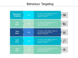 Behaviour Targeting Ppt Powerpoint Presentation Infographic Template Cpb