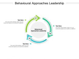 Behavioural Approaches Leadership Ppt Powerpoint Presentation Icon Pictures Cpb