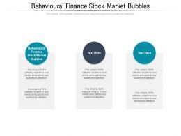 Behavioural Finance Stock Market Bubbles Ppt Powerpoint Presentation Model Display Cpb