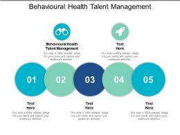 Behavioural Health Talent Management Ppt Powerpoint Presentation File Deck Cpb