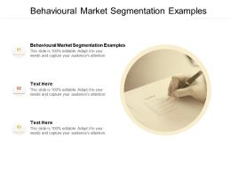 Behavioural Market Segmentation Examples Ppt Powerpoint Presentation Slides Cpb