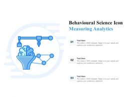 Behavioural Science Icon Measuring Analytics