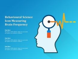 Behavioural Science Icon Measuring Brain Frequency