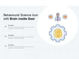 Behavioural Science Icon With Brain Inside Gear