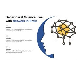 Behavioural Science Icon With Network In Brain