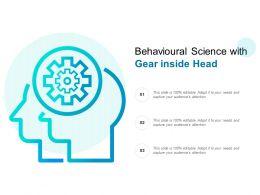 Behavioural Science With Gear Inside Head