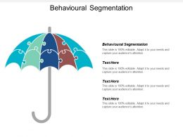 Behavioural Segmentation Ppt Powerpoint Presentation File Ideas Cpb