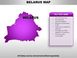 Belarus Country Powerpoint Maps