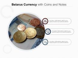 Belarus Currency With Coins And Notes