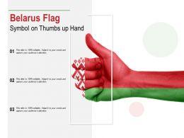 Belarus Flag Symbol On Thumbs Up Hand