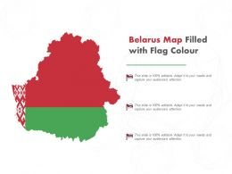 Belarus Map Filled With Flag Colour