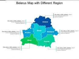 Belarus Map With Different Region