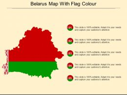 Belarus Map With Flag Colour