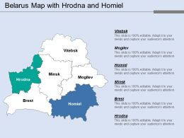 Belarus Map With Hrodna And Homiel