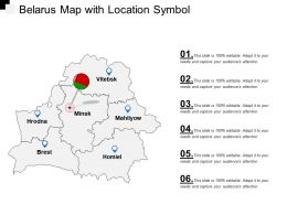 Belarus Map With Location Symbol