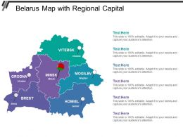 Belarus Map With Regional Capital
