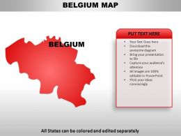 Belgium Country Powerpoint Maps