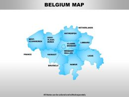 Belgium Map Powerpoint Maps